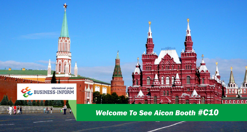 Invitation to Aicon Booth #C10 in Moscow!