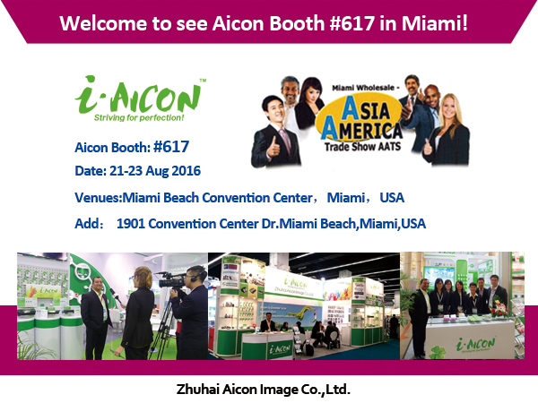 Invitation to Aicon Booth #617 in Miami!